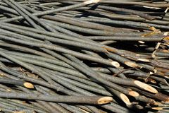 Dla płotowej budowy drewniani kije Fotografia Stock