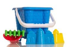 Dla piaskownic zabawek odizolowywać na bielu Zdjęcie Stock