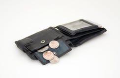 Dla pieniądze czarny portfel Obrazy Stock