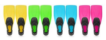 Dla pikowania koloru cztery flippers fotografia royalty free