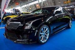 Dla początkujących luksusowy samochodowy Cadillac ATS-V, 2016 obraz royalty free