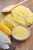Dla polenty kukurydzana mąka zdjęcie royalty free