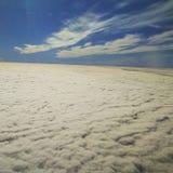 Dla porthole chmur Zdjęcie Stock