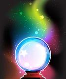 Dla przepowiedni magiczna sfera ilustracja wektor