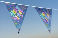 Dla przyjęcia urodzinowego dekoracj flaga Obrazy Royalty Free