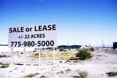 Dla sprzedaż znaka ziemi w Południowym pasku w Las Vegas Obrazy Stock