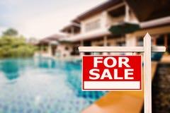 Dla sprzedaż domu znaka Obraz Royalty Free