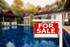 Dla sprzedaż domu znaka Obrazy Royalty Free