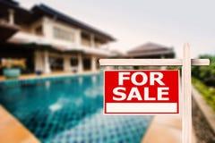Dla sprzedaż domu znaka Fotografia Stock