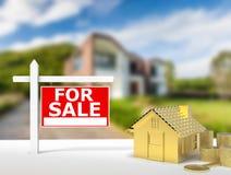 Dla sprzedaż znaka domu Fotografia Royalty Free