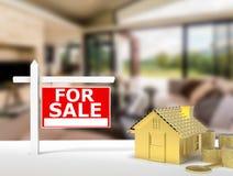 Dla sprzedaż znaka domu Zdjęcie Royalty Free