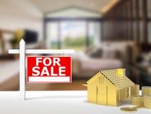 Dla sprzedaż znaka domu Obraz Stock