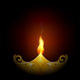 Dla Szczęśliwego Diwali dekorujący Diya royalty ilustracja