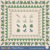 Dla target605_0_ granicy roślina elementy Fotografia Royalty Free