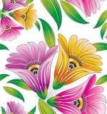 Dla tekstylnych projektów bezszwowi kwiaty Zdjęcie Royalty Free
