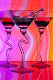 Dla trzy Martini koktajle obrazy royalty free