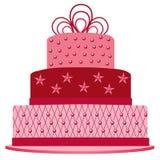 Dla urodziny różowy tort Zdjęcia Stock