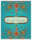 Dla Wesoło Bożych Narodzeń zaproszenie karta Zdjęcia Stock
