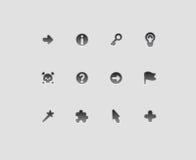 Dla znaków interfejs ikony Fotografia Stock