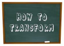 Dlaczego Przekształcać Chalkboard edukaci Ewidencyjne instrukcje Zdjęcie Royalty Free