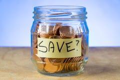 Dlaczego Save? Fotografia Royalty Free