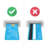 Dlaczego wkładać kredytową kartę w atm Obraz Stock