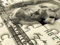 Dólar americano del rompecabezas de rompecabezas Foto de archivo libre de regalías