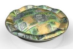 Dólar australiano de la empanada del dinero Imagen de archivo libre de regalías