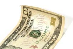 Dólar Bill do dez Fotos de Stock Royalty Free