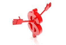 dólar con el gráfico del aumento Foto de archivo libre de regalías