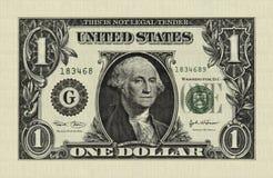 Dólar corto Imagen de archivo libre de regalías