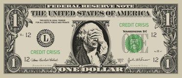 Dólar desesperado Foto de archivo