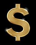 Dólar do ouro Foto de Stock Royalty Free