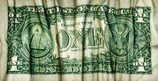 Dólar ondulado enrugado Fotos de Stock
