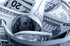 Dólares americanos do dinheiro Imagens de Stock