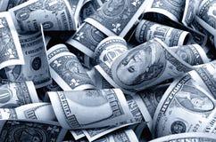 Dólares americanos do dinheiro Foto de Stock Royalty Free