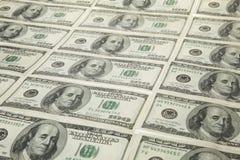 Dólares americanos em cru Imagem de Stock