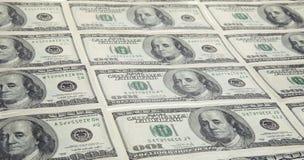 Dólares americanos em cru Fotografia de Stock