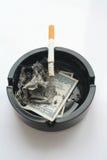 Dólares ardentes Fotos de Stock Royalty Free