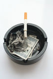 Dólares ardientes Fotos de archivo libres de regalías