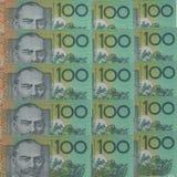 Dólares australianos do fundo Fotografia de Stock