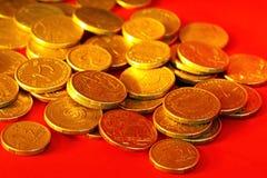 Dólares australianos dourados Fotografia de Stock