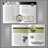 5 dólares Bill Brochure Layout Template Fotos de archivo