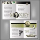 2 dólares Bill Brochure Template Imagen de archivo libre de regalías