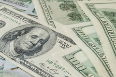 Dólares del dinero Foto de archivo libre de regalías