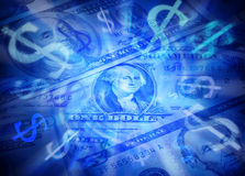 Dólares do fundo do dinheiro Fotografia de Stock