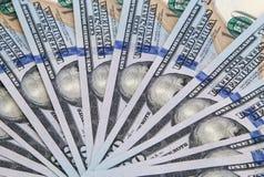 Dólares en abanico de billetes de banco Fotografía de archivo libre de regalías