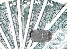 Dólares y centavos Fotos de archivo libres de regalías