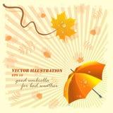 dåligt gott väder för illustrationparaplyvektor Royaltyfria Bilder