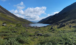 Dlinnoe lake in Khibiny Mountains, Russia Royalty Free Stock Image